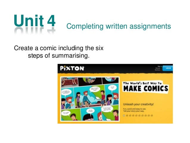 Unit 9 Make the activity 9.3 in a visual presentation (power point, keynote, open office…) and share it in SlideShare Rese...