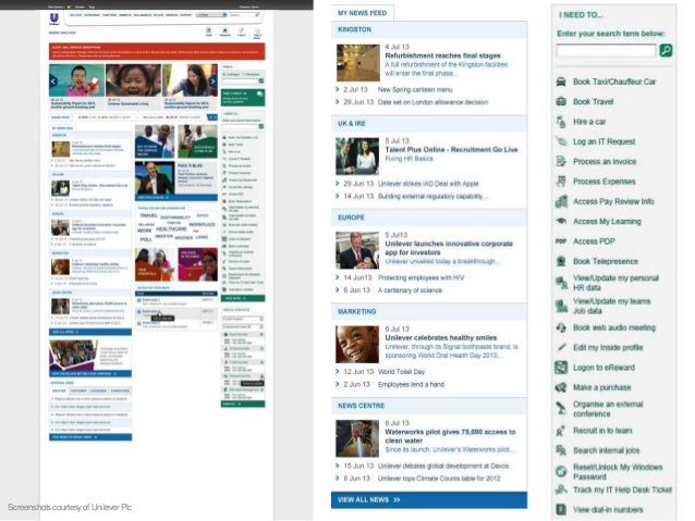 Personalised newsfeed stream Screenshotcourtesyof Yara International