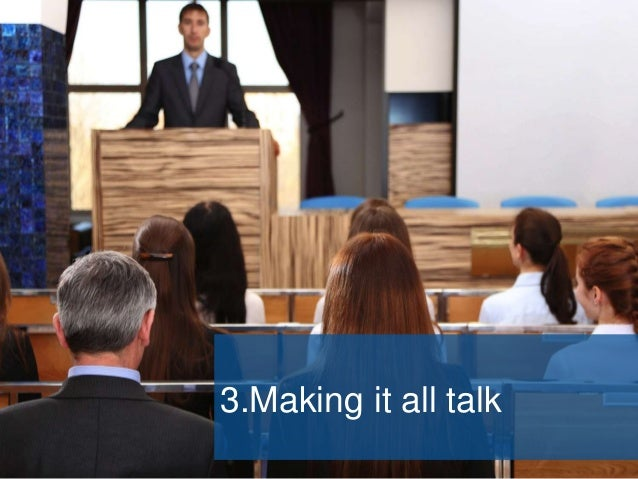 3. Making it all talk  Filling the homepage with news  Making people go some other place for: • Expenses • Room booking ...