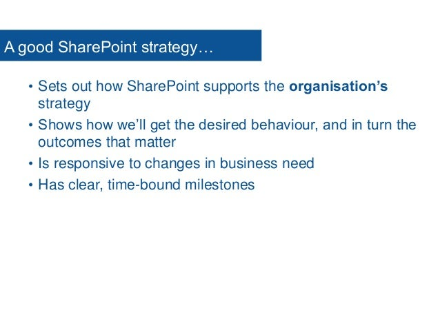Intranet, SharePoint & Digital Workplace  Strategy  Governance  Implementation  Collaboration  Training www.clearbox....