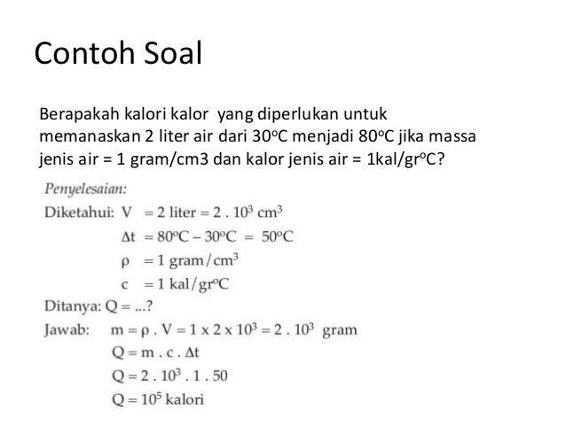 Contoh Soal Fisika Suhu Dan Kalor