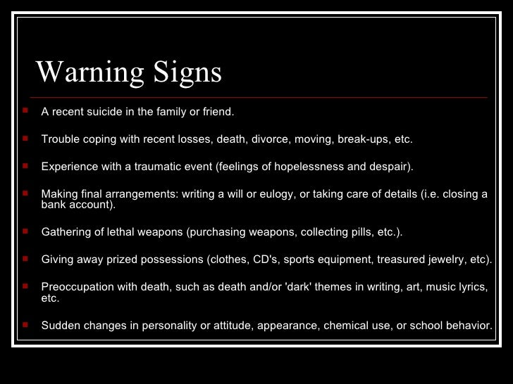 warning signs dysfunctional