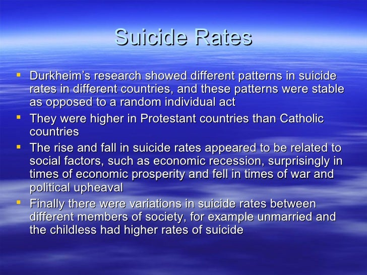 sociology suicide essay View essay - essay on emile durkheim from sociology 1 at ucsb memo 1: suicide by emile durkheim a study in sociology emile durkheim.