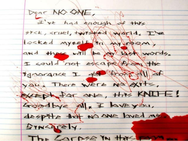 Real Suicide Notes By Teenagers