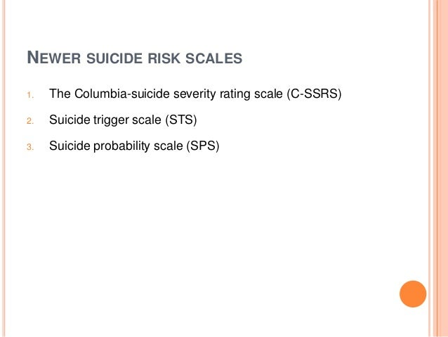 Beck scale for suicidal ideation bss