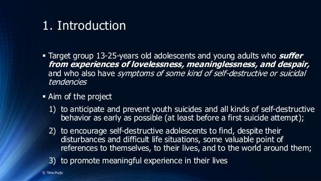 Symptoms of self destructive behavior