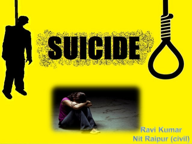 """Suicide derived from  the two Latin words  sui & caedere = """"to kill  oneself """""""