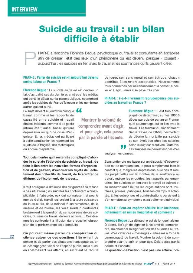 22 http://www.snphare.com - Journal du Syndicat National des Praticiens Hospitaliers Anesthésistes-Réanimateurs Élargi - n...