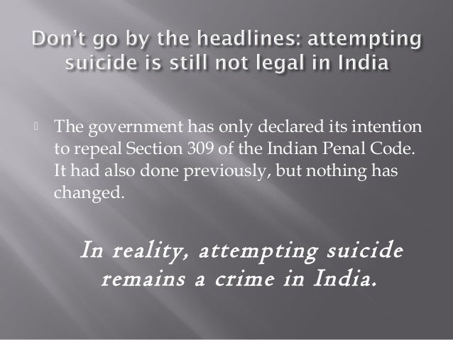 Attempted suicide no longer a crime as India changes attitude to mental health problems
