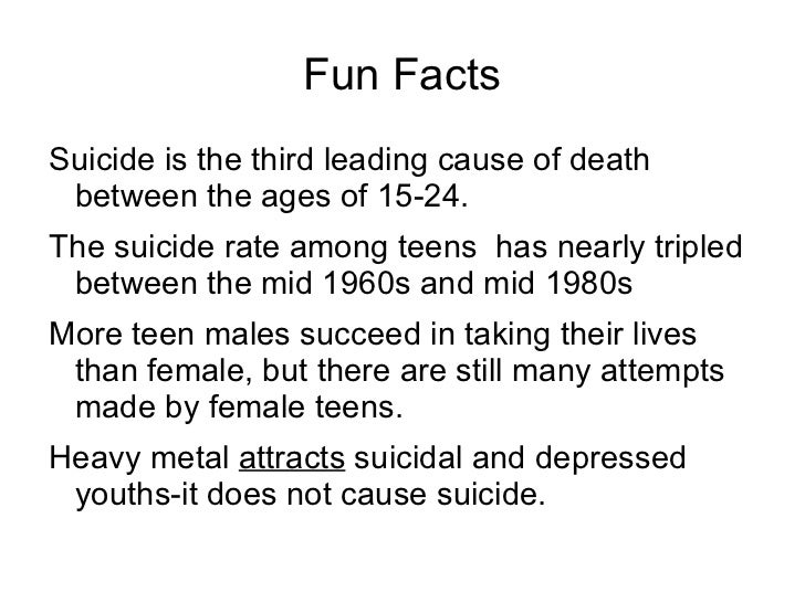 Causes of Teenage Suicide