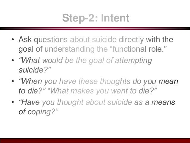 Managing Suicidal Ideation