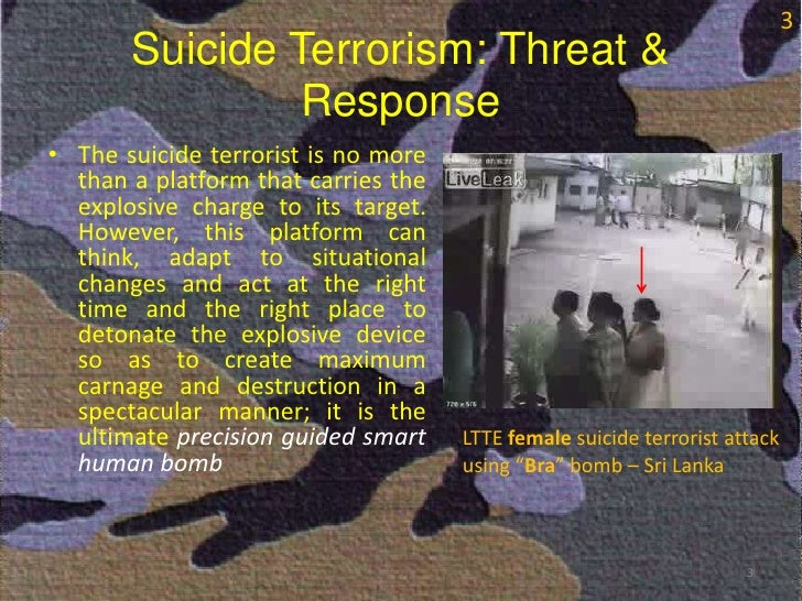suicide terrorism Why do terrorist organizations use suicide tactics when they could opt for a less costly alternative we look at three explanations: strategic benefits, signaling, and outbidding.