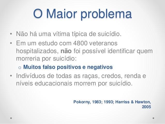 Conclusões • Treinamento no reconhecimento de transtornos mentais é fundamental na prevenção. • O manejo dos fatores de ri...