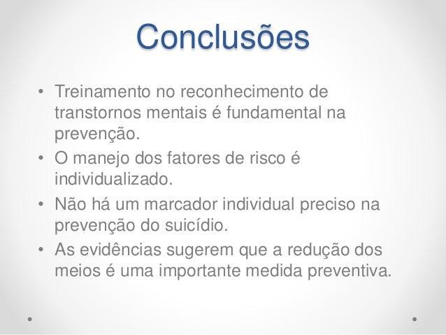 Suicídio: aspectos preventivos e TCC