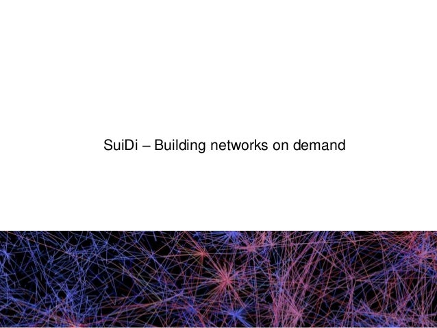 SuiDi – Building networks on demand