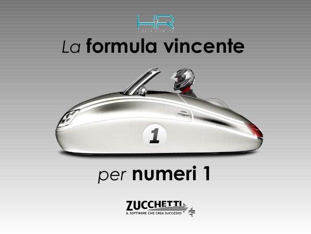 La formula vincente  per numeri 1