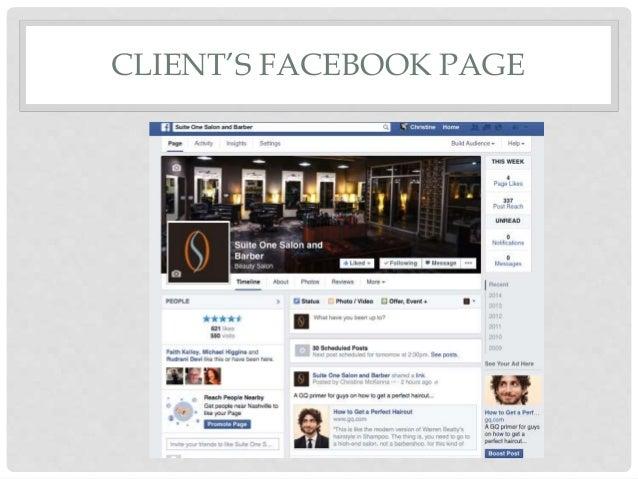 Boutique Hair Salon: Content Marketing Example for Facebook