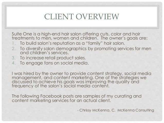 Boutique hair salon content marketing example for facebook for Salon data marketing