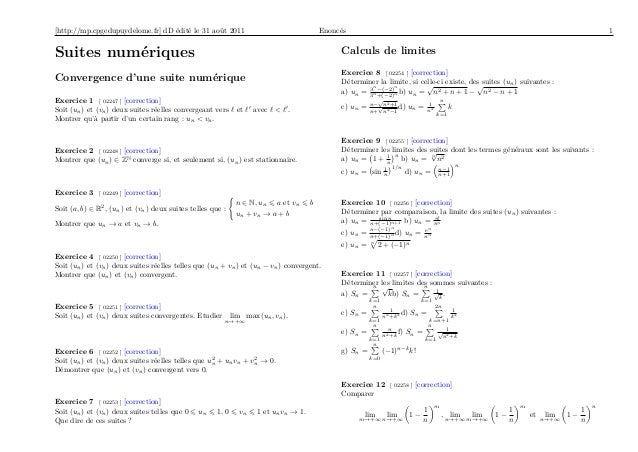 [http://mp.cpgedupuydelome.fr] dD édité le 31 août 2011                                   Enoncés                         ...