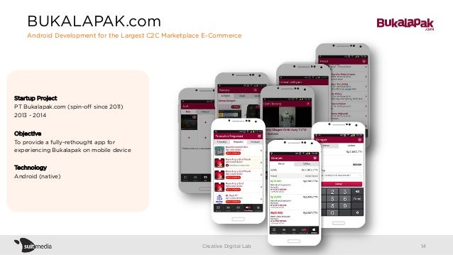 Startup Project PT Bukalapak.com (spin-off since 2011) 2013 - 2014 Objective To provide a fully-rethought app for experienc...
