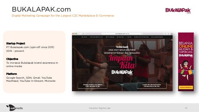 Startup Project PT Bukalapak.com (spin-off since 2011) 2014 - present Objective To increase Bukalapak brand awareness in on...