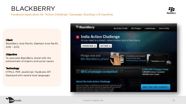 Client BlackBerry Asia-Pacific, Edelman Asia-Pacific 2012 – 2013 Objective To associate BlackBerry brand with the achievemen...