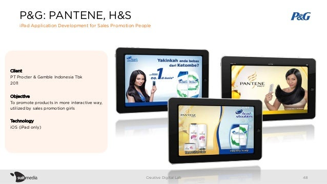 Client PT Procter & Gamble Indonesia Tbk 2011 Objective To promote products in more interactive way, utilized by sales pro...