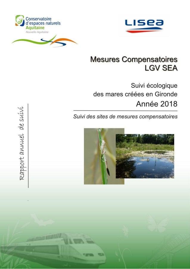 Pascal TARTARY TARTARY P. 2018. Suivis écologiques des mares créées dans le cadre de la LGV SEA – Suivi des sites de mesur...