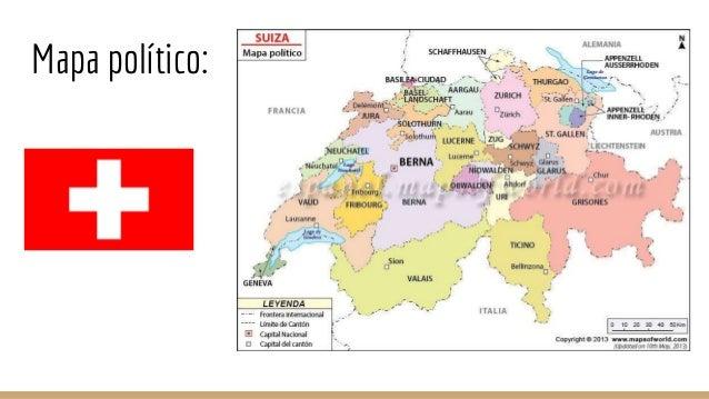 Mapa Politico De Suiza.Suiza