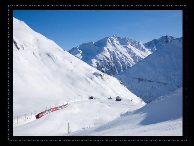 • Le Glacier Express relie en 7 heures et demi, Zermatt à St Moritz en empruntant 291 ponts, 91 tunnels et le fameux col d...