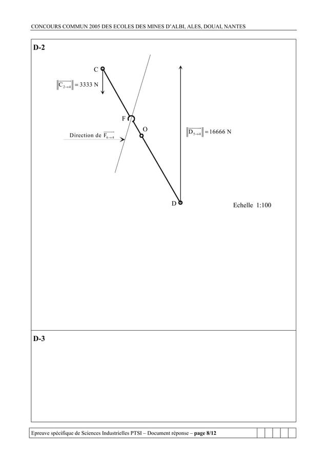 CONCOURS COMMUN 2005 DES ECOLES DES MINES D'ALBI, ALES, DOUAI, NANTESD-2                           C           C 2 → 4 = 3...