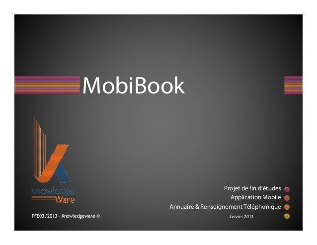 MobiBook                                                  Projet de fin d'études                                          ...