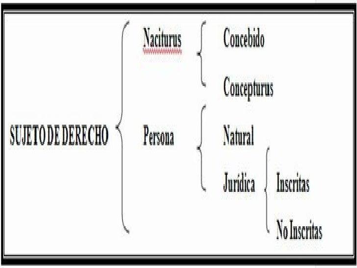 54bc6bf3e666 Sujetos de Derecho Concebido Persona ...