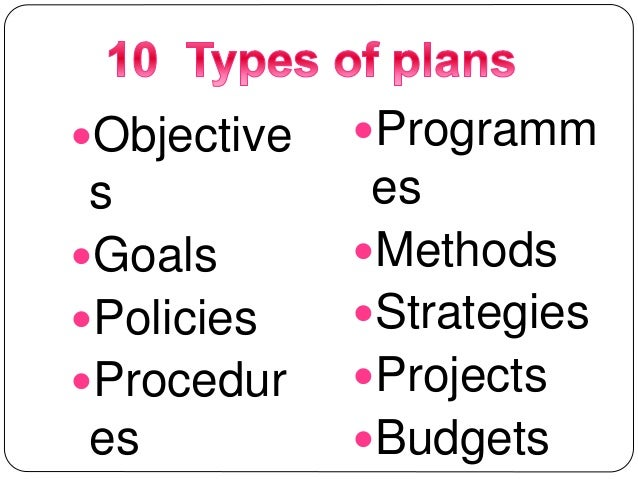 Power Point Presentation on types of plan
