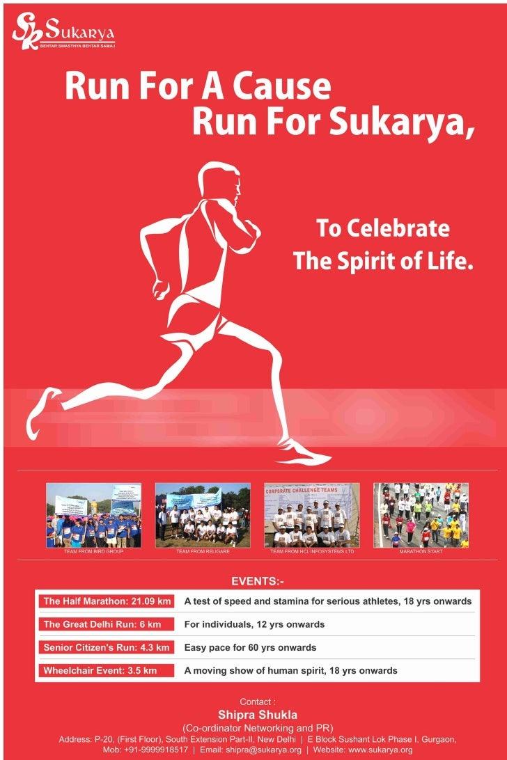 Sukarya Delhi Half Marathon 2011 Poster