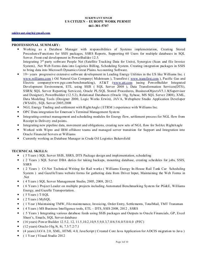 Exelent Williams Energy Resume Adornment - Best Resume Examples by ...