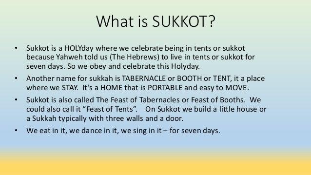 ... 4.  sc 1 st  SlideShare & Sukkot (Feast of Tabernacle) lesson
