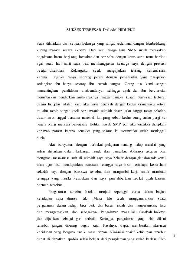 essay kesuksesan terbesar dalam hidupku lpdp
