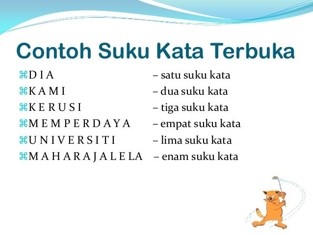 Suku Kata Bahasa Melayu Tahun 1