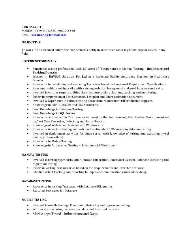 sukumar resume