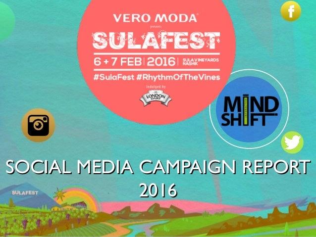 SOCIAL MEDIA CAMPAIGN REPORTSOCIAL MEDIA CAMPAIGN REPORT 20162016