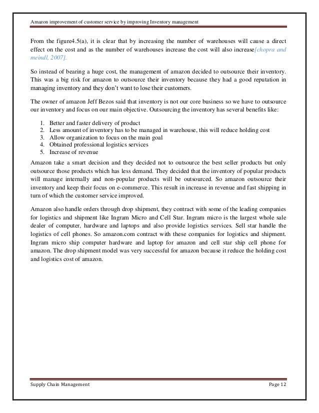 Case study: Amazon improvement of customer service