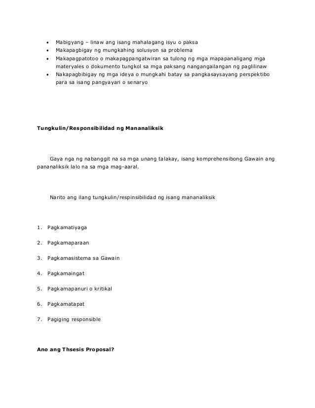 thesis sa pagnenegosyo