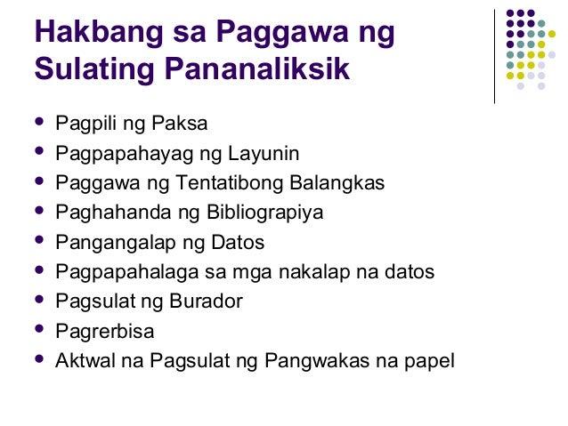 sulating pangwakas Halimbawa, kapag di ko gusto yung topic namin sa formal theme/sulating  pangwakas eh di ko na siya gagawin kapag di ako marunong.