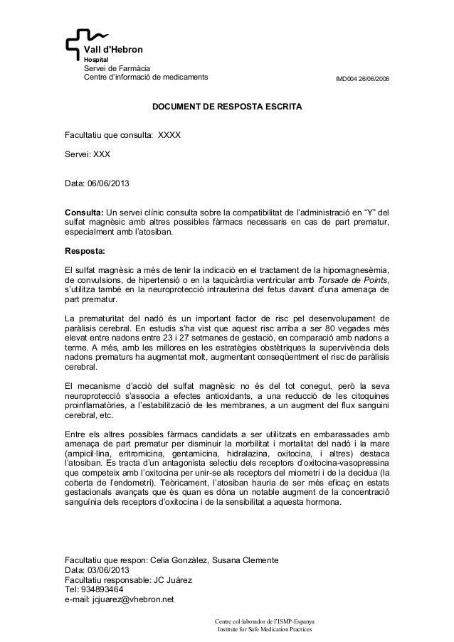 IMD004 26/06/2006Facultatiu que respon: Celia González, Susana ClementeData: 03/06/2013Facultatiu responsable: JC JuárezTe...