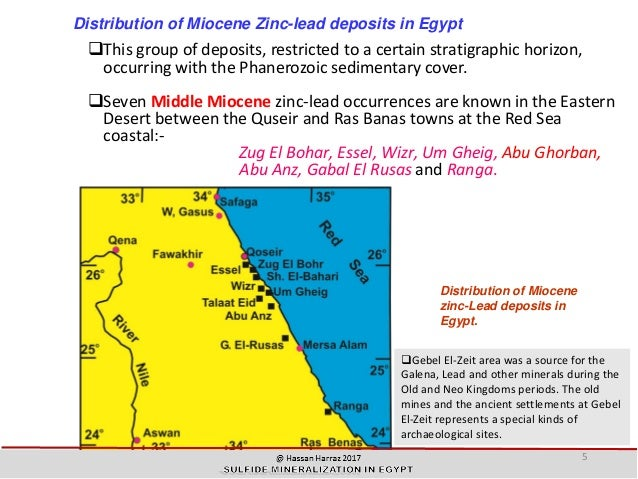 SULFIDE MINERALIZATION IN EGYPT - Groundwater prospect map of egypt's qena valley