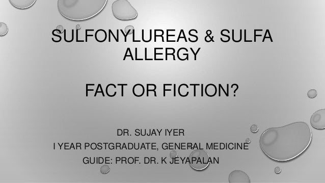 sulfonylureas & sulfa allergy, Skeleton
