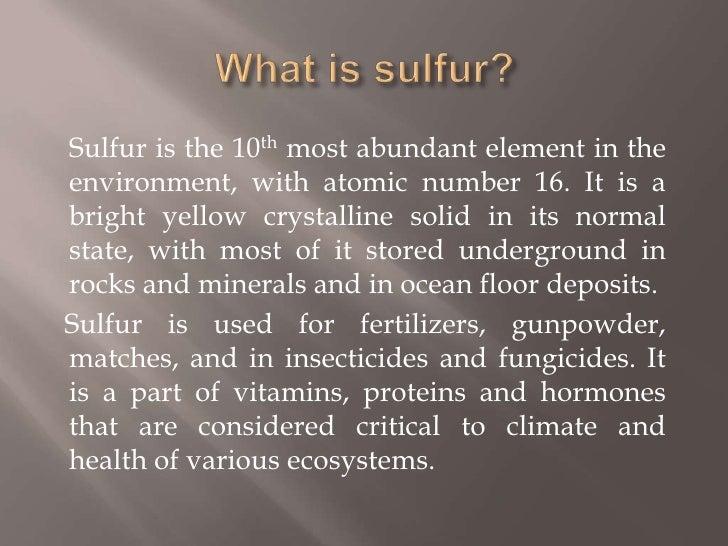Sulfur cycle Slide 2