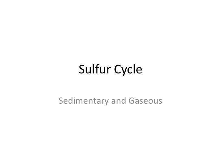 Sulfur CycleSedimentary and Gaseous