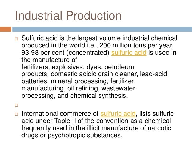 Sulfuric Acid King Of Chemicals Industrial Production Using Contact